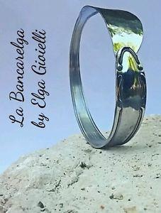 【送料無料】ブレスレット スプーンティースプーンブレスレットカフbracciale artigianale da un cucchiaio da th posate in acciaio spoon bracelet