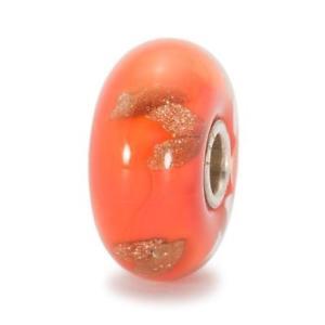 【送料無料】ブレスレット ガラスオレンジツアービードtrollbeads bead in vetro arancione world tour tglbe10089