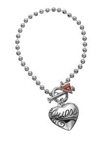 【送料無料】ブレスレット ブレスレットハートシリーズチェーンguess armkette bracciale catena a mano cuore serie ubb80924 argentati