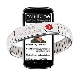 【送料無料】ブレスレット ブレスレットブレスレットlansia braccialetti in espansione di emergenza medica id identit braccialetto sos ghiaccio