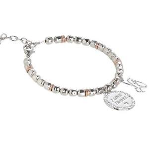 【送料無料】ブレスレット カフビーズbracciale beads boccadamo con charm e medaglietta i love travel refxbr389