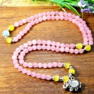 【送料無料】ブレスレット ローズクォーツブレスレットquarzo rosa bracciale elefante