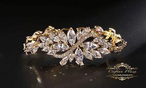 【送料無料】ブレスレット カフブレスレットスワロフスキークリスタルゴールドゴールドbracciale bracelet 18k oro plt con swarovski aaa cristalli oro