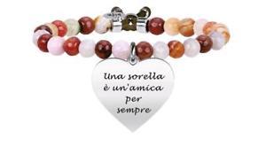 【送料無料】ブレスレット ブレスレットkidult bracciali agata marrone amily cuore sorella 731331