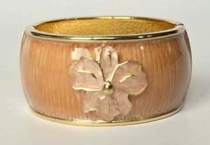【送料無料】ブレスレット リモンカフブレスレットブラウンゴールドベージュエナメルsal y limon syl bracciale braccialetto marrone beige oro colori fiore smalto nuovo