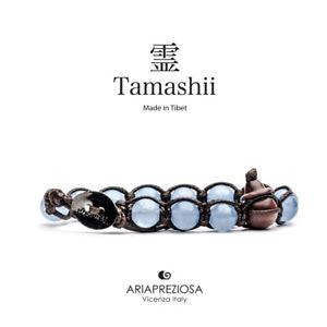 【送料無料】ブレスレット カフチベットオーシャンtamashii bracciale tibet etno monaci buddhisti agata azzurra oceano bhs90031