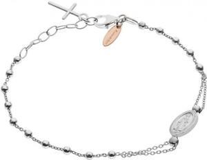 【送料無料】ブレスレット カフシルバークロスbracciale montenapoleone bagutta mb009 argento 925 rosario croce