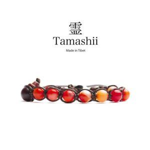 【送料無料】ブレスレット カフチベットtamashii bracciale tibet etno monaci buddhisti agata rossa striata bhs900118
