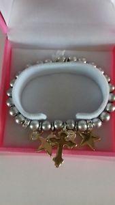 【送料無料】ブレスレット ビビクリスタルハートスタークロスブレスレットbibi bijoux cuore stella croce braccialetto di cristallo