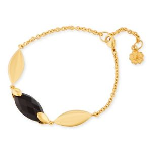 【送料無料】ブレスレット ロンドンヘラオニックスブラックブレスレットazuni london nuovo hera placcato in oro 18ct nero onice braccialetto