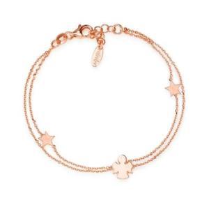 【送料無料】ブレスレット カフアーメンロマンスシルバーピンクゴールドbracciale amen romance brasr argento oro rosa