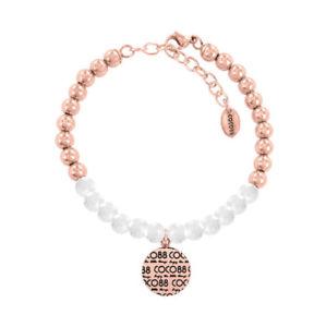 【送料無料】ブレスレット ココブレスレットコレクションステンレススチールcoco88 braccialetto donna elemental collezione 8cb14008 acciaio inox