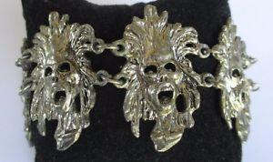 【送料無料】ブレスレット ブレスレットビンテージオリジナルアルジェントbracelet ancien bijou vintage rare originale maillon masque couleur argent 282