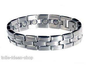 【送料無料】ブレスレット マグネットカフステンレススチールcalamita bracciale tripartito in acciaio inox circa 18,9 cm