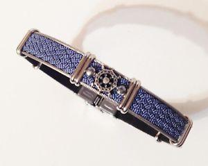 【送料無料】ブレスレット グルメブレスレットステンレススチールアルジェントgourmette bracelet stainless steel argent dcor tress bleu joaillerie 316