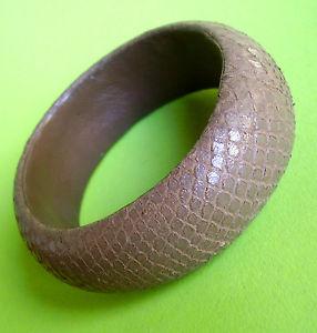 【送料無料】ブレスレット メタルブレスレットドマロングレース2286 bracelet rigide recouvert de cuir marron glace facon serpent
