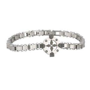 【送料無料】ブレスレット スチールブラックブレスレットクリスタル2 jewels bracciale navy in acciaio 316l pvd nero e cristallo 231420