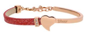 【送料無料】ブレスレット スキンピンクゴールドピンクエキゾティックブレスレットguess donna bracciale in pelle oro rosarosa exotic attitude ubs61030