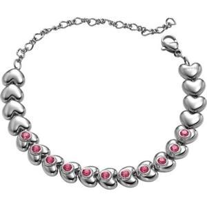 【送料無料】ブレスレット ブレスレットスチールハートピンクスワロフスキーbracciale donna breil love around tj1706 acciaio cuore swarovski rosa