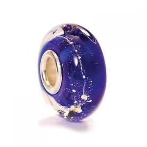 【送料無料】ブレスレット ガラスビードtrollbeads bead in vetro blu via lattea tglbe20053