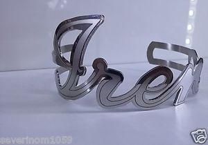 【送料無料】ブレスレット プレートカスタムブレスレットbracciale rigido in acciaio donna il mio piastra nome personalizzato