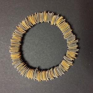 【送料無料】ブレスレット ブレスレットゴールドスチールスプリングピアノbracelet n1 gold amp; steel la mollla tiziana redavid la molla piano wire jewelry