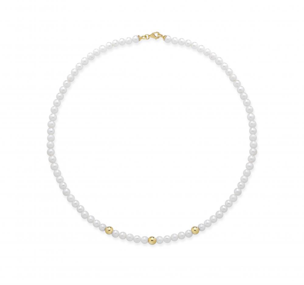 送料無料 ブレスレット シルバーイタリアネックレスcollana donna fujiko perle naturali coltivate argento 925 made in italy cla003gmfyYb7Iv6