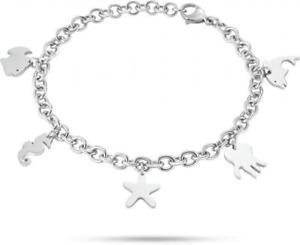 【送料無料】ブレスレット カフセクターシンボルシルバースタードルフィンbracciale sector sagi13 in acciaio simboli mare estate silver stella delfino