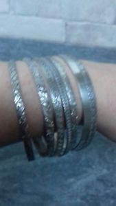 【送料無料】ブレスレット ビンテージスタッキングシルバーブレスレットブレスレットvintage argento impilamento braccialetti 7 bracciali