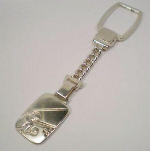 【送料無料】ブレスレット キーチェーンシルバービンテージタルportachiavi argento 925 vintage anno 1993 targa lunghezza 10 cm 30364b