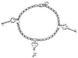 【送料無料】ブレスレット カフシルバーキー2 jewels bracciale chiave argento 233060