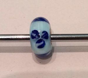 【送料無料】ブレスレット オリジナルガラスtrollbeads original authentic ritirato glass vetro fiori celesti 61156