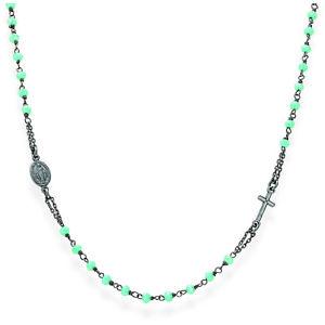 【送料無料】ブレスレット アーメンネックレスチョーカーシルバーcront3 amen collana girocollo rosario argento
