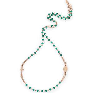 【送料無料】ブレスレット アーメンネックレスシルバーグリーンamen collana rosario argento ros cristalli verdi crorvz3