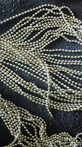 【送料無料】ブレスレット メートルチェーンシルバートーンショット100 metri catena catenella a pallini liscio tono argento 2mm pi 150 chiusure