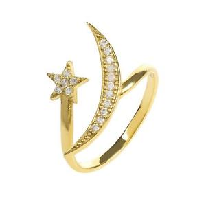 【送料無料】ブレスレット ロンドンムーンスターホワイトゴールドリングlatelita london luna e stella anello oro bianco cz