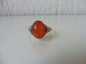 【送料無料】ブレスレット リングシルバーオレンジ_ bella, antico anello__835 argento con amber _