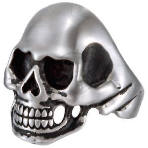 【送料無料】ブレスレット デッドスカルバイカースカルリングステンレススチールmorti cranio iii statement biker skull anello in acciaio inox 316l