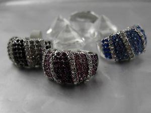 【送料無料】ブレスレット リングブロックストライプデザインカラーピッカーglitzernder anello mia accecanti glitzersteine blocco strisce design selettore colori
