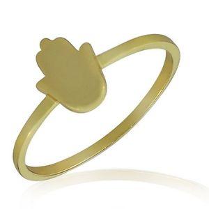 【送料無料】ブレスレット スターリングシルバーイエローカラーゴールドラッキーハンドリングargento sterling 925 giallo color oro hamsa mano portafortuna anello fede