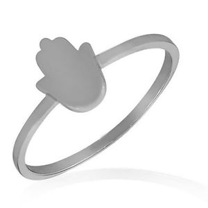 【送料無料】ブレスレット スターリングシルバーポリッシュラッキーハンドリングargento sterling 925 lucidato piccolo hamsa mano portafortuna anello fede