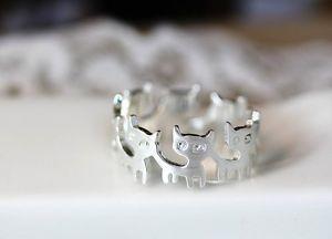 【送料無料】ブレスレット シルバーゴールドカラーリングリングgatti party anello in argento o colori dorati anello con animali