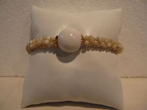 【送料無料】ブレスレット カフドルマンベージュホワイトbracciale elastico minibolle  dolman beige bianco