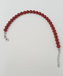 【送料無料】ブレスレット カフシルバーbracciale donna perle rosso corallo 556mm idea regalo chiusura argento 925