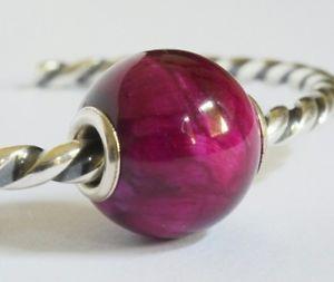 【送料無料】ブレスレット ピンクタイガーアイコアブレスレットartisan pink tiger eye small silver core compatible with trollbeads bracelet