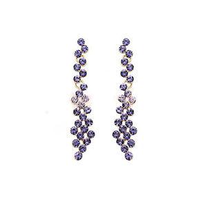 【送料無料】ブレスレット スワロフスキークリスタルジルコンイヤリングorecchini donna con cristallo swarovski zircone violette or98