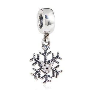 【送料無料】ブレスレット スターリングシルバーペンダントクリスマススノーフレークxmas charm in argento sterling 925pendente a forma di fiocco di neve di x5c