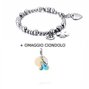 【送料無料】ブレスレット sagapo bracciale ciondolo acquario omaggio gratis shaf05 sha11