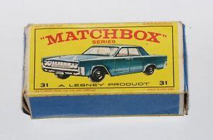 【送料無料】模型車 モデルカー スポーツカー マッチシリーズリンカーンコンチネンタルオリジナルボックスmatchbox serie 175 31 lincoln continental nur die originale box