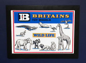 【送料無料】模型車 モデルカー スポーツカー モデルサイズポスターショップサインインフレームbritains toy models 1962 wild life zoo animals framed a4 size poster shop sign